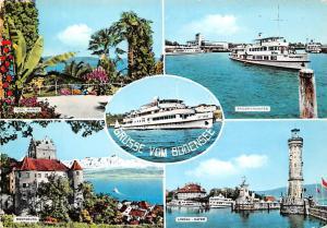 Gruesse vom Bodensee, Lindau Hafen Meersburg Friedrichshafen Insel Mainau