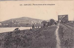 Pont Du Chemin De Fer Et Briquetterie, Railroad Tracks, Dap-Cau, Vietnam, Asi...