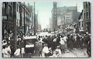 Cincinnati Ohio~Crowd Loitering at 6th & Mound Street~Tornado Damage~July 7 1915