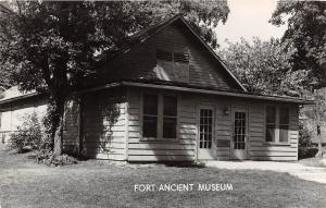 E29/ Fort Ancient Ohio RPPC Postcard c40s Native American Indian Mound Museum 2
