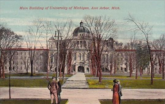 Michigan Ann Arbor Main Building Of University Of Michigan
