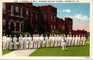 Georgia Gainesville Riverside Military Academy A Company At Drill