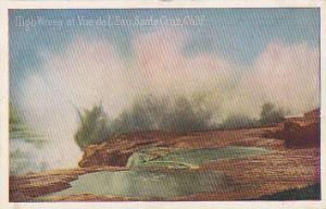 High Waves at Vue de L'Eau, Santa Cruz,  California,  PU-1927