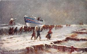 Ye Mariners of England Launch of The Lifeboat Raphael Tuck Postcard