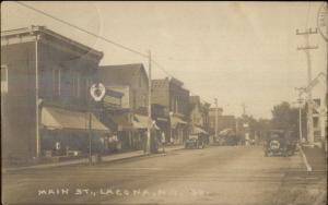 Lacona NY Main St. c1910 Real Photo Postcard