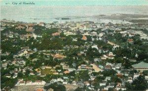 Birdseye City of Honolulu Hawaii C-1910 Postcard South Seas Curio 20-8546