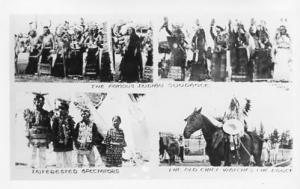 Indian Sundance, Spectators, The Old Chief Watches the Dance  **RPPC**  4 Views