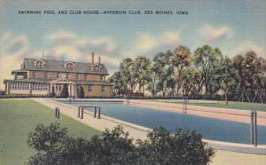 Swimming Pool and Club House, Hyperion Club, DES MOINES, Iowa, 30-40s