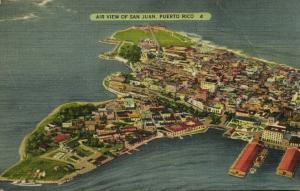 puerto rico, SAN JUAN, Aerial View (1940s)