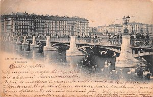 Les Mouettes a Geneve Switzerland 1900 Missing Stamp