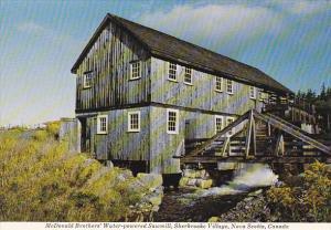 Canada McDonald Brothers' Water-Powered Sawmill Sherbrooke Village Nova Scotia