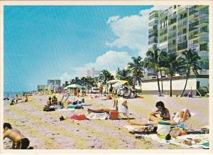 Beach Scene Hollywood Beach Florida