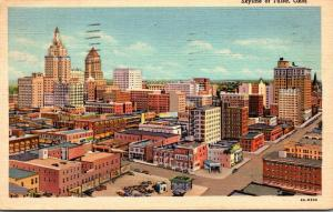 Oklahoma Tulsa Skyline Aerial View 1947 Curteich