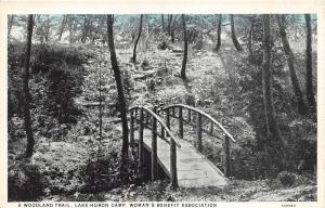 Lake Huron Michigan~Woman's Benefit Association~Woodland Trail~Rustic Bridge~'20