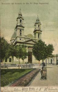 argentina, ROSARIO DE SANTA FÉ, Iglesia Matriz (1908) Stamp