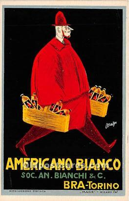 Advertising Postcard - Old Vintage Antique  Americano Bianco