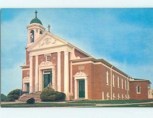 Unused Pre-1980 CHURCH SCENE Narragansett Rhode Island RI hs6585
