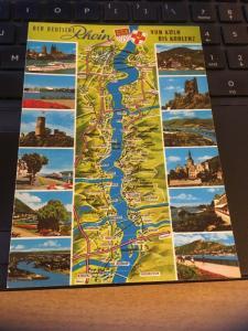 Vintage Postcard:Germany- Der Deutsche Rhein, Von Koln, Bis Koblenz, Multi View