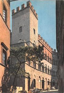 Italy Old Vintage Antique Post Card Palace Chigi Saracini Siena Unused