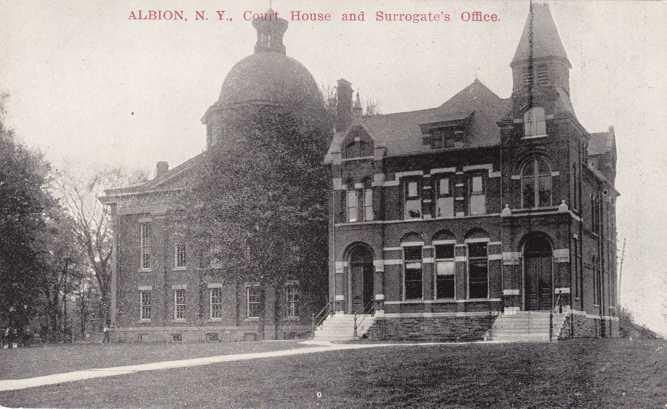 Court House and Surrogate's Office - Albion NY, New York - UDB