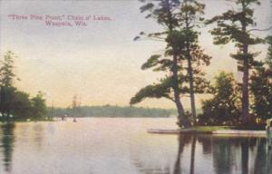 Wisconsin Waupaca Three PIne Point In Chain Of Lakes