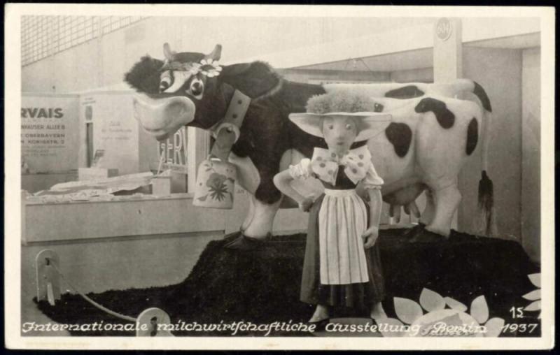 germany, BERLIN, Int. Milchwirtschaftliche Ausstellung, Dairy Expo (1937) RPPC 2