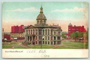 Peoria Illinois~Peoria County Courthouse Square~Stores~Demolished 1962~1907 PC