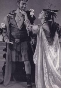 Michael Redgrave Antony & Cleopatra Royal Shakespeare Company Theatre Postcard