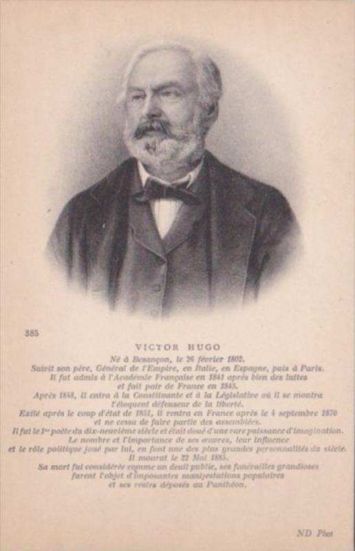Victor Hugo Author