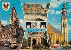 Netherlands Groeten uit Middelburg, auto, cars, Arch, church, multiviews