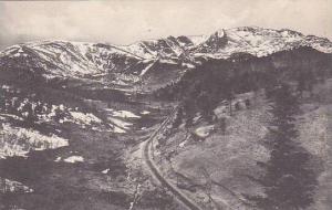 Colorado Colorado Springs Pikes Peak From Pilot Knob 3 And Half Miles Of Trac...