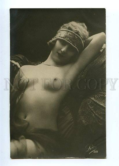 128973 NUDE Woman BELLE Vintage Real PHOTO LEO #88 PC