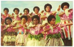 Mekes, Women dancers, Fiji, 1940-60s