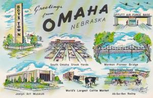 Nebraska Greetings From Omaha Multi View