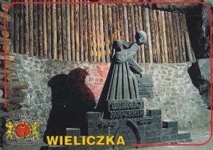 Poland Wieliczka Salt Mine Polish Mining Postcard