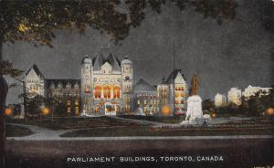 Parliament Buildings, Toronto, Canada, Early Postcard, Unused