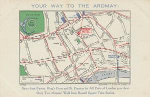 Bus Route Map , LONDON , England , 1910s