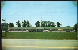 Indiana CENTERVILLE Green Acres Motel U.S. Hwy 40 - Tele: 2452-R - pm1959 Chrome
