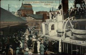 Arrival of Niagara Boat at toronto c1910 Postcard