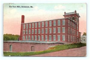 Postcard ME Richmond The Yarn Mill Pre 1920s View G12