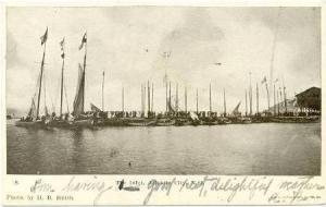 Sailboats,The Inlet,Atlantic City,New Jersey, PU-1906