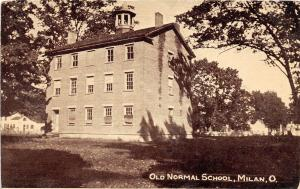 E52/ Milan Ohio Postcard c1910 Old Normal School Building