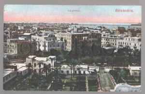 099270 EGYPT Alexandrie vue generale Vintage colorful PC