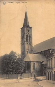 Belgium Tournai Eglise Saint Piat Church Postcard