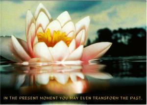 The Present Moment Thich Nhat Hanh Buddhism Quote Postcard #2
