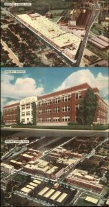 Indianapolis IN Eli Lilly & Co Labs Plants etc Fold-Open Multi-View Postcard