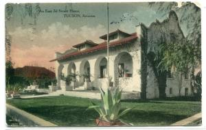 East 3rd Street Home Tucson Arizona 1910 postcard