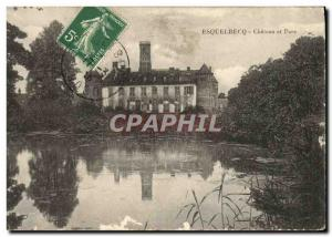 Old Postcard Esquelbecq Castle and Park