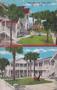 Florida Daytona Grey Shingles Guest House 1952
