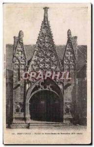 Postcard Old Bridge Cross Gate of Our Lady of Roscodon (XV century)